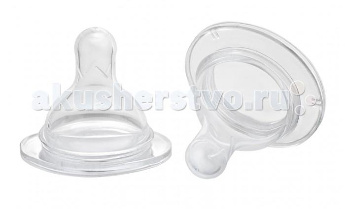 Соски Курносики силиконовая широкое горло х- образное отверстие 6+ 2 шт.