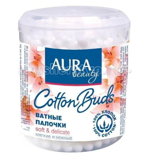 Уход за малышом Aura Ватные палочки Cotton Buds 200 шт. (стакан)