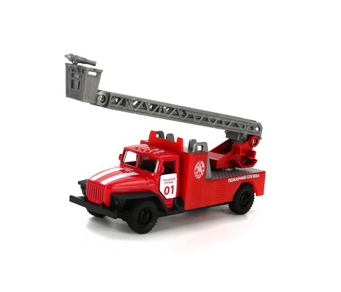 Машины Технопарк Пожарная машина Урал 12см машинки технопарк машина технопарк металл инерционная урал самосвал 12см открывающиеся двери