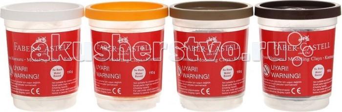 Faber-Castell Пластилин на водной основе 4 шт. 520 г металлические цвета