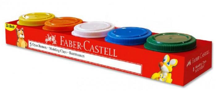 Всё для лепки Faber-Castell Пластилин на водной основе 5 шт. 225 г акриловый лак на водной основе для стекла