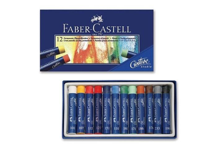 Карандаши, восковые мелки, пастель Faber-Castell Масляная пастель Studio Quality 12 шт. фонарь maglite 2d синий 25 см в картонной коробке 947191