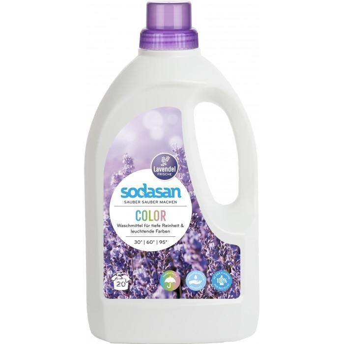 где купить Бытовая химия Sodasan Жидкое средство для стирки изделий из цветных тканей Лаванда 1.5 л по лучшей цене