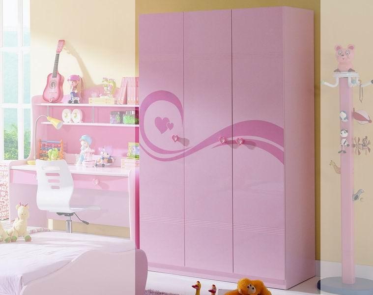 Детская мебель , Шкафы Milli Willi Rose трехдверный арт: 30914 -  Шкафы