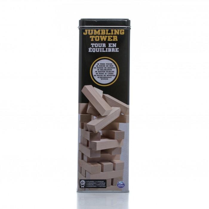 Настольные игры Spin Master Настольная игра Падающая башня настольные игры игры с блоками башни из деревянных блоков деревянные блоки мини деревянный девочки подарок