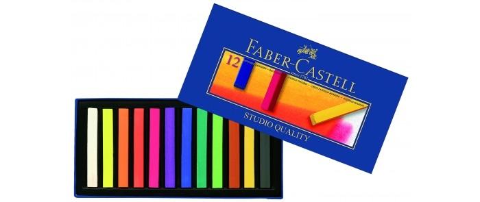 Карандаши, восковые мелки, пастель Faber-Castell Мягкие мелки Gofa в картонной коробке 12 шт. подставка для книг gold в картонной коробке по 04