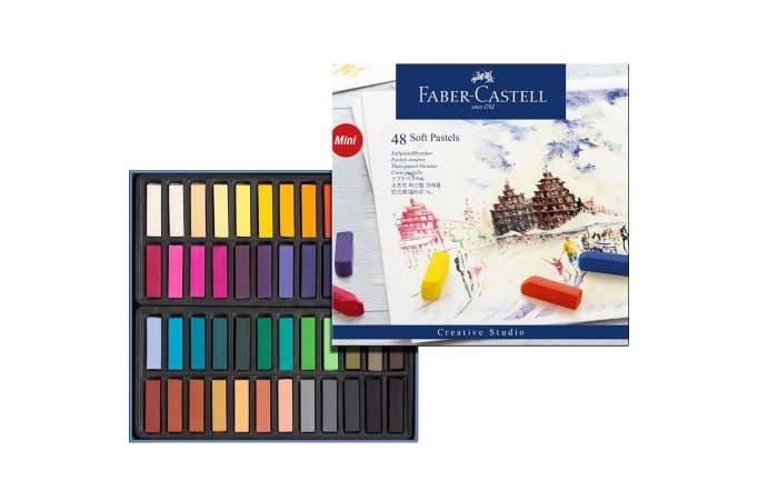 Развитие и школа , Мелки Faber-Castell мягкие мини Gofa в картонной коробке 48 шт. арт: 309309 -  Мелки