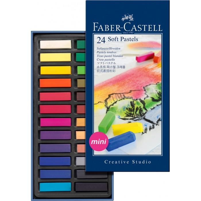 Карандаши, восковые мелки, пастель Faber-Castell Мягкие мелки мини Gofa в картонной коробке 24 шт. фонарь maglite 2d серебристый 25 см в картонной коробке 947251