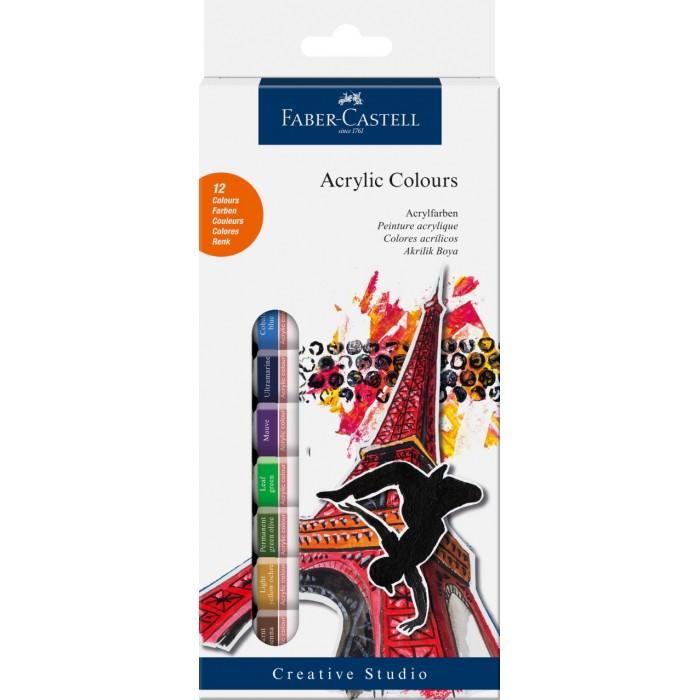 Faber-Castell Краски акриловые 12 шт.