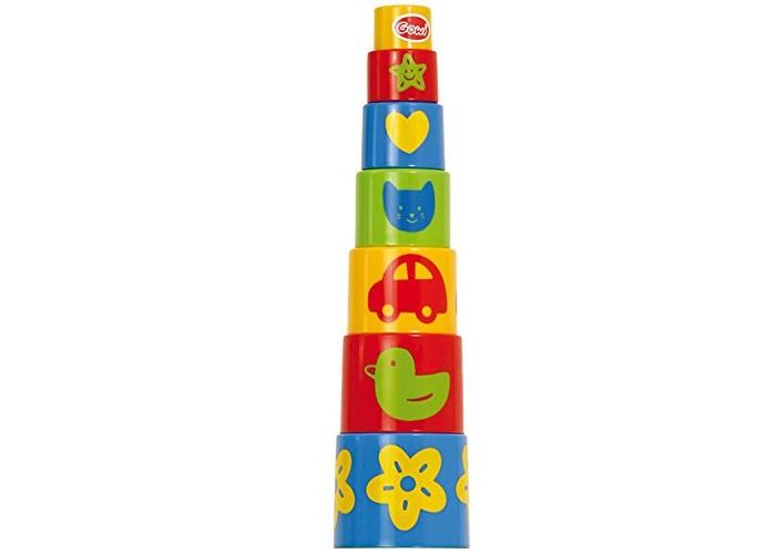 Развивающие игрушки Gowi Ведерко-пирамидка Формочки (7 предметов) краснокамская игрушка развивающая пирамидка кольцевая
