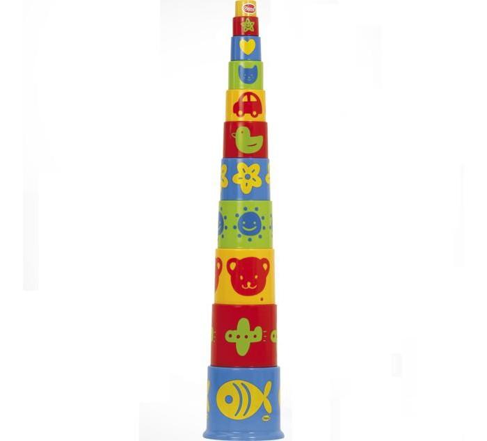 Развивающие игрушки Gowi Ведерко-пирамидка 11 предметов