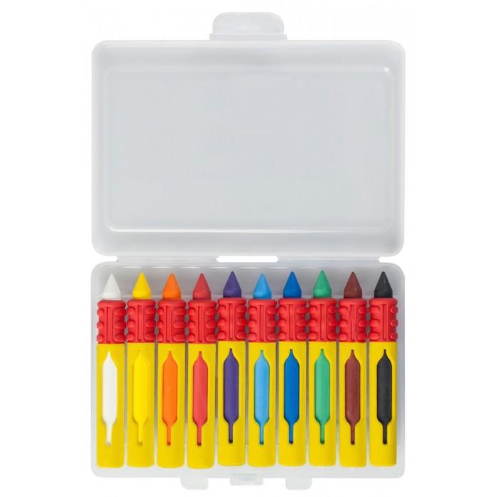 Карандаши, восковые мелки, пастель Faber-Castell Восковые мелки водостойкие 10 шт. карандаши восковые мелки пастель kuso мелки восковые кирпичики 4 цвета