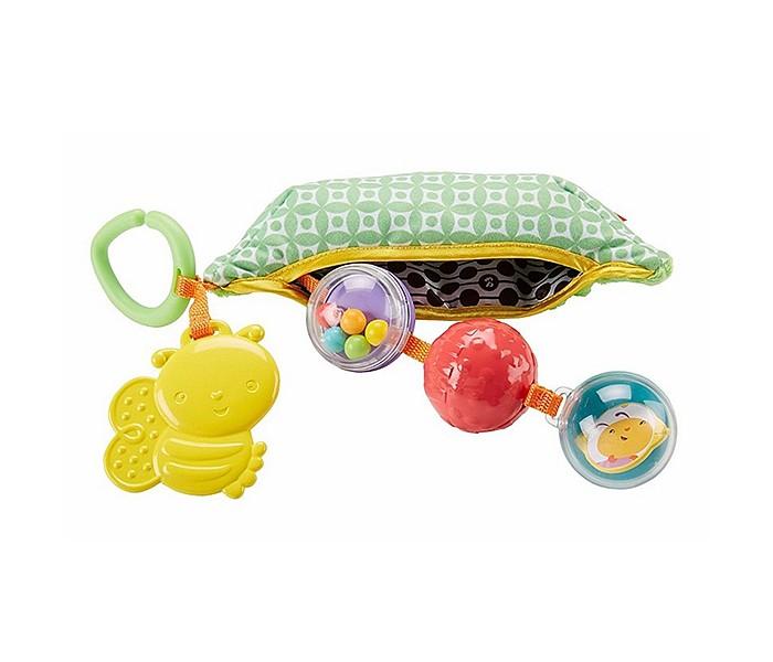 Подвесные игрушки Fisher Price Mattel Горошек с погремушками и прорезывателем
