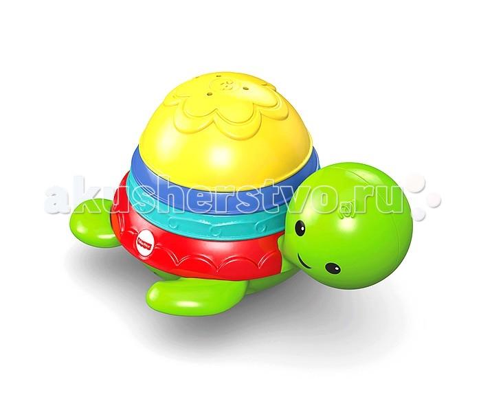 Игрушки для ванны Fisher Price Mattel Черепашка-пирамидка для ванны черепашка нажимай и догоняй