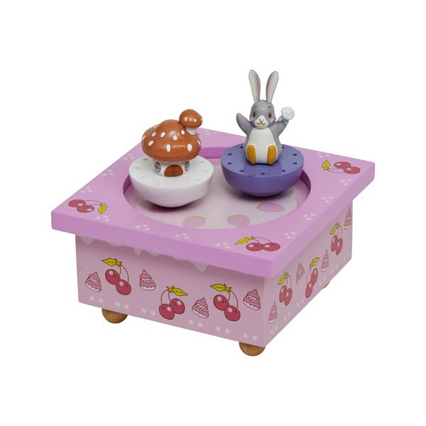 Шкатулки Trousselier Музыкальная шкатулка Wooden Box Lapingouin trousselier музыкальная мини шарманка elmer© trousselier