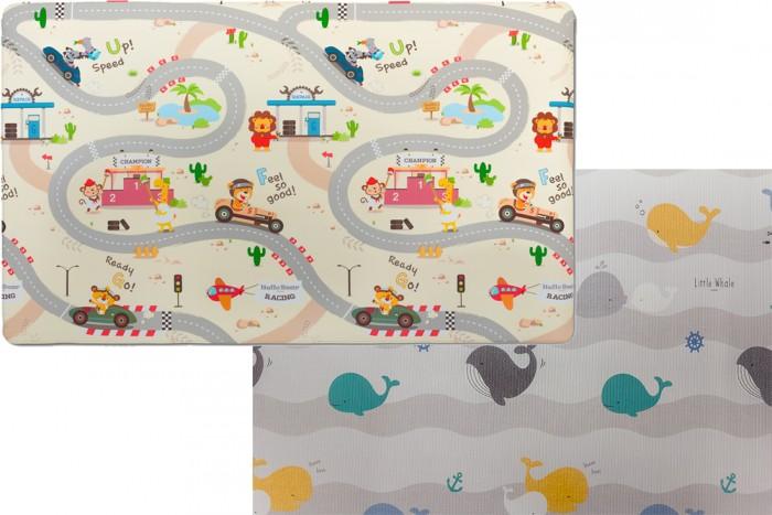 Игровой коврик Parklon Green Soft Дороги/Киты 190х130Green Soft Дороги/Киты 190х130Игровой коврик Parklon Green Soft Дороги/Киты 190х130  Коврик для ползания и игр серии Green Soft – продуманное напольное покрытие для детской комнаты.  Изготавливается из ПВХ – износостойкого и экологичного материала. Эти игровые коврики не скользят, не промокают, радуют глаз яркими качественными рисунками.  По покрытию не страшно делать первые шаги и бегать, потому что падать не больно.  На нем уютно дремать или лежать на животике и рассматривать рисунки. Новый дизайн коврика - замечательное решение для родителей, которые хотят совместить расцветку для игр ребенка, и приятный интерьерный рисунок. Сторона с Китами органично впишется в интерьер как современной стильной детской, так и любой другой комнаты в доме.  Сторона с Дорогами - отличное поле для игр - можно катать машинки, строить города и  изучать английские слова.  Дизайн хорош и для мальчиков, и для девочек.  Основная особенность коврика из ПВХ - повышенная устойчивость к различным воздействиям и долговечность.  Размер детского коврика: 190 см х 130 см (длина х ширина). Толщина: 1.2 см.  Хранить изделие можно в сложенном и в свернутом виде.<br>