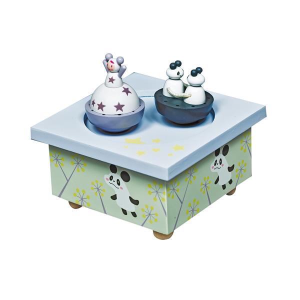 Детская мебель , Шкатулки Trousselier Музыкальная шкатулка Wooden Box Девочка и панда арт: 31027 -  Шкатулки