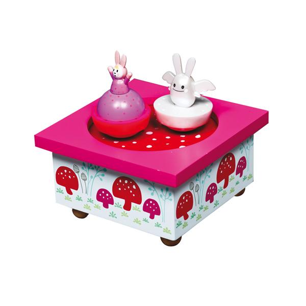 Детская мебель , Шкатулки Trousselier Музыкальная шкатулка Wooden Box Зайка с крылышками арт: 31029 -  Шкатулки