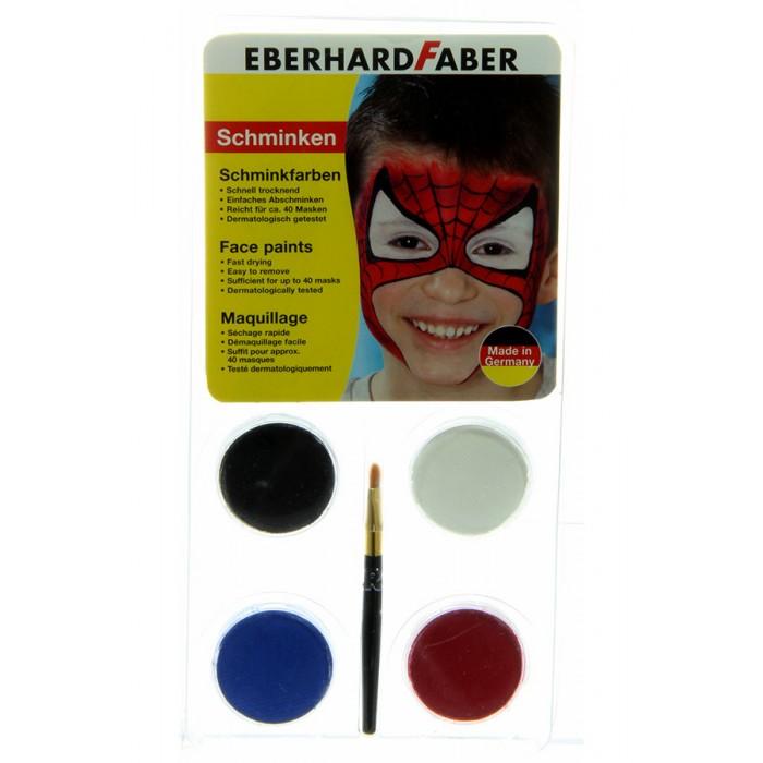Наборы для творчества Faber-Castell Набор для аквагрима Человек-паук 4 цвета кисточка паук 4 1 на ниву