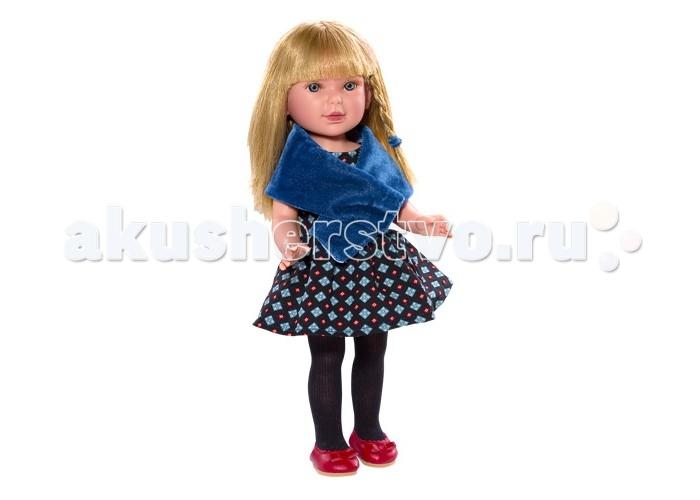 Vestida de Azul Паулина блондинка с челкой АктрисаПаулина блондинка с челкой АктрисаVestida de Azul Паулина блондинка с челкой Актриса в модном наряде: вечернее платье с пышной юбкой, накидка синего цвета, черные колготки и яркие туфельки. Романтичный образ в артистическом стиле поможет сформировать вкус ребенка с самых ранних лет.  Особенности: Личико Паулины очень милое: щечки с легким румянцем, слегка вздернутый носик, пухлые губки и выразительные глаза с длинными ресницами, наклеенными вручную, которые выглядят как настоящие  Длинные волосы куклы густо прошиты и напоминают натуральные  Челка прошита отдельно, а значит всегда будет красиво уложенной  Девочка сможет создавать самые восхитительные и оригинальные прически и укладки, что к тому же развивает креативность и фантазию Кукла изготовлена из плотного гипоаллергенного винила высокого качества, и самостоятельно стоит Подвижные руки, ноги и голова для незабываемой реалистичной игры  Рост куклы - 33 см.<br>
