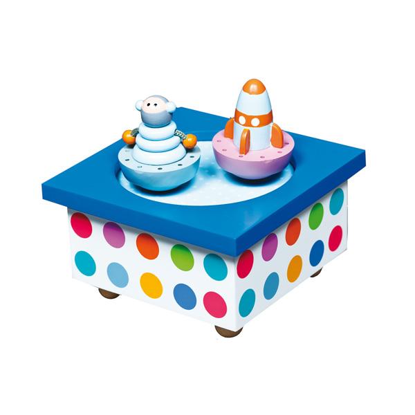 Детская мебель , Шкатулки Trousselier Музыкальная шкатулка Wooden Box Ракета арт: 31039 -  Шкатулки