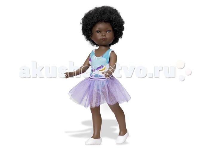 Vestida de Azul Карлотта африканка балеринаКарлотта африканка балеринаVestida de Azul Карлотта африканка балерина темнокожая брюнетка в нежном образе балерины: платье с пышной юбкой-пачкой. Стильный внешний вид куклы поможет сформировать вкус ребенка с самых ранних лет.  Особенности: Милое личико куколки никого не оставит равнодушным: пухлые щечки с румянцем, вздернутый носик и выразительные глазки с длинными ресницами, наклеенными вручную, которые выглядят как настоящие Длинные волосы куклы густо прошиты и напоминают натуральные Челка прошита отдельно, а значит всегда будет красиво уложенной   Девочка сможет создать самые восхитительные и оригинальные прически и укладки, что к тому же развивает креативность и фантазию Кукла изготовлена из плотного гипоаллергенного винила высокого качества, и умеет стоять без поддержи Подвижные руки, ноги и голова для незабываемой реалистичной игры Рост куклы - 28 см. В наборе: кукла Карлотта комплект одежды<br>