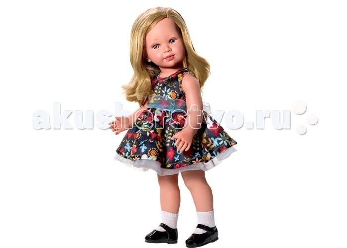 Vestida de Azul Корал блондинка Лето Городской ШикКорал блондинка Лето Городской ШикVestida de Azul Корал блондинка Лето Городской Шик в праздничном летнем образе в стиле городской шик: цветочное платье с пышной юбкой, декорированное органзой, светлые носочки и лаковые туфельки.   Особенности: Милое личико куколки никого не оставит равнодушным: пухлые щечки с румянцем, вздернутый носик и выразительные глазки с длинными ресницами, наклеенными вручную, которые выглядят как настоящие Длинные волосы куклы густо прошиты и напоминают натуральные Челка прошита отдельно, а значит всегда будет красиво уложенной   Девочка сможет создать самые восхитительные и оригинальные прически и укладки, что к тому же развивает креативность и фантазию Кукла изготовлена из плотного гипоаллергенного винила высокого качества, и умеет стоять без поддержи Подвижные руки, ноги и голова для незабываемой реалистичной игры Рост куклы - 45 см. В наборе: кукла Корал комплект одежды<br>