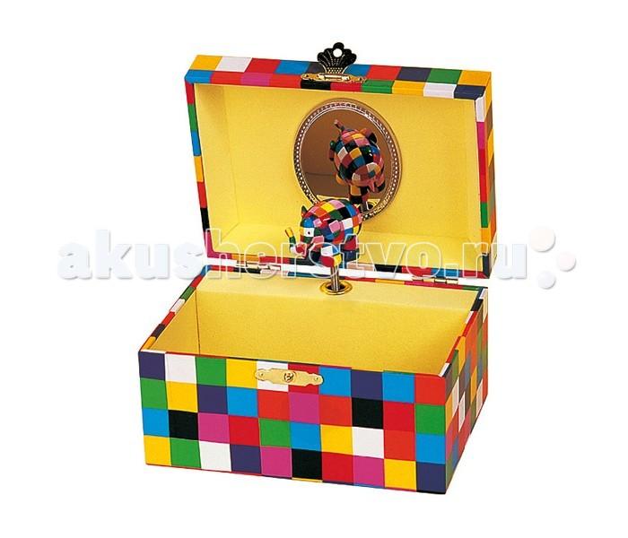 Trousselier Музыкальная шкатулка ElmerМузыкальная шкатулка ElmerКрасивая музыкальная шкатулка Elmer с одним отделением для хранения мелочей и крутящейся под музыку фигуркой слоника.  Выполненная из дерева, имеет небольшое зеркальце внутри.   Малыш будет в восторге! Не забываемый подарок на день рождения!   Музыкальный механизм заводится с помощью маленького ключика. (SERENADE - F.P. SCHUBERT)  Размер: 15 х 8 х 11 см  Поставляется в подарочной коробке Trousselier.   Французский бренд Trousselier вот уже более 40 лет создает уникальные коллекции детских игрушек, товаров для дома и интерьера. Вся продукция изготовлена из натуральных материалов с соблюдением высоких европейских стандартов качества.<br>