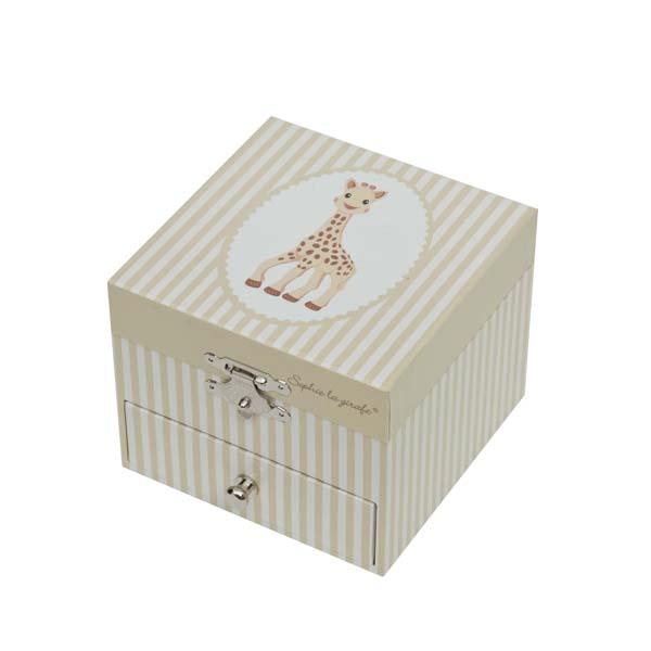 Детская мебель , Шкатулки Trousselier Музыкальная шкатулка-куб Sophie The Giraffe арт: 31063 -  Шкатулки