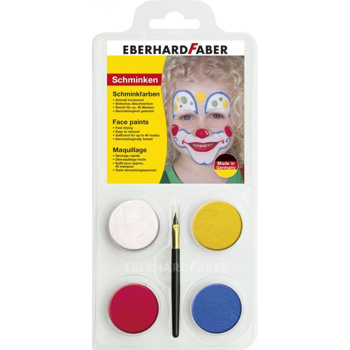 Наборы для творчества Faber-Castell Набор для аквагрима Клоун 4 цвета кисточка vestida de azul кукла паулина балерина