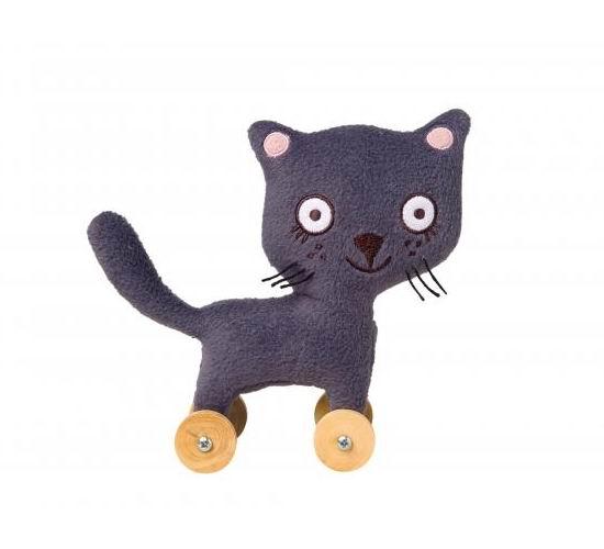 Мягкие игрушки Trousselier Кошка на колесиках 15 см, Мягкие игрушки - артикул:31148