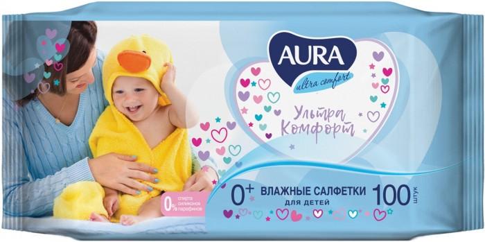 Салфетки Aura Влажные салфетки для детей Ultra Comfort 100 шт. салфетки aura ultra comfort 100шт 6486