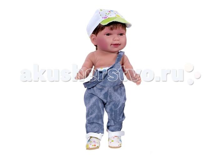 Куклы и одежда для кукол Vestida de Azul Мико в джинсовом комбинезоне умеет стоять серия soft touch