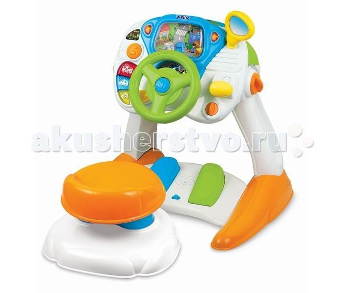Игровой центр Weina Первые уроки вожденияПервые уроки вожденияИгрушка развивающая Первые уроки вождения (свет, звук) Weina - это симулятор вождения для малышей.   Игрушка состоит из двух частей: сиденья и панели управления.   На панели имеется всё, чтобы малыш почувствовал себя настоящим водителем: руль, коробка передач, педали газа и тормоза и экран с машинкой - лобовое стекло.   С помощью руля и коробки переключения передач ребенок управляет машинкой на экране, нажимая на разные кнопочки, слушает звуки машин и музыку.   Такая яркая и оригинальная игрушка понравится любому мальчишке!  Особенности: Игровой симулятор со звуковыми и световыми эффектами Реалистичные элементы управления: руль, педали газа и тормоза, коробка переключения передач, поворотники Мелодии и звуки автомобиля, в том числе 3 сирены При нажатии на педали можно услышать звук ускорения или торможения Батарейки: 5 шт. типа АА (не входят в комплект)<br>