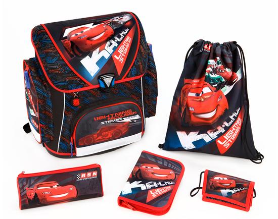 Купить Школьные рюкзаки, Scooli Портфель с наполнением Cars (5 предметов)