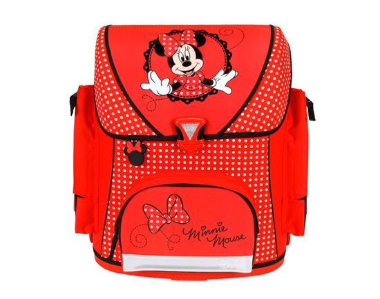Scooli Ранец Minnie MouseРанец Minnie MouseUndercover Ранец Minnie Mouse просто обязан пробудить в вашей малышке тягу к труду и знаниям. Известная на весь мир и любимая всеми детками героиня Диснеевского мультсериала будет всегда с вашей малышкой! Милая мышка будет пробуждать в ней любовь к знаниям, к учебе, ведь в таком рюкзаке должны быть только пятерки! Яркий ранец несомненно привлечет внимание и взгляды всех вокруг!   Особенности: Все молнии закрывают надежные клапаны, а для дополнительного удобства детской спинки предусмотрена мягкая спинка со вставками их воздухообменной сетки, а также регулируемые лямки с системой вентиляции 3 огромных отделений в рюкзаке непременно оценят как детишки, так и родители  Кармашек для мобильного телефона, карман, карман на молнии, карабин для ключей и 2 кармашка формата A4, в которых не помнется ни один доклад вашего малыша! Второй карман идет без разделителей, а в третьем вы найдете разделители на липучке для тетрадей. Дно рюкзака имеет 4 прорезиненные подставки, что сохранит материал на дне в идеальном состоянии на протяжении длительного времени.  Ранец выполнен из высококачественных, нетоксичных материалов, он очень надежный и легкий - идеальный вариант для вашего ребенка<br>