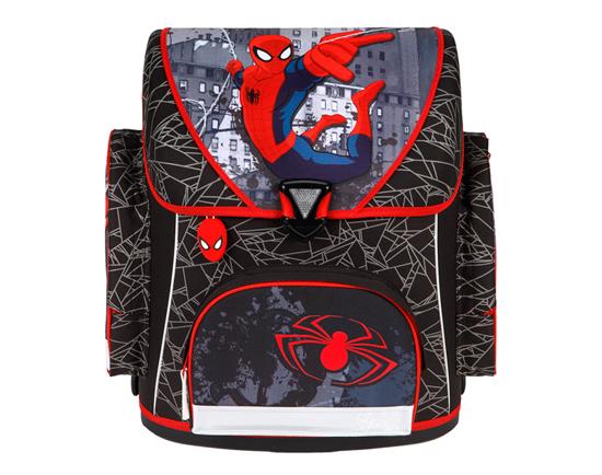 Scooli Ранец Spider ManРанец Spider ManUndercover Ранец Spider Man просто обязан пробудить в вашем малыше тягу к труду и знаниям, ведь в нем нельзя носить никакие другие оценки, кроме пятерок! С таким замечательным школьным рюкзаком и ежедневная учеба не будет в тягость: малыша всегда и везде будет сопровождать любимый герой из знаменитого мультфильма! Такой красочный ранец привлечет взгляды и внимание всех вокруг!   Особенности: Все молнии закрывают надежные клапаны, а для дополнительного удобства детской спинки предусмотрена мягкая спинка со вставками их воздухообменной сетки, а также регулируемые лямки с системой вентиляции 3 огромных отделений в рюкзаке непременно оценят как детишки, так и родители Кармашек для мобильного телефона, карман, карман на молнии, карабин для ключей и 2 кармашка формата A4, в которых не помнется ни один доклад вашего малыша! Второй карман идет без разделителей, а в третьем вы найдете разделители на липучке для тетрадей. Дно рюкзака имеет 4 прорезиненные подставки, что сохранит материал на дне в идеальном состоянии на протяжении длительного времени.  Ранец выполнен из высококачественных, нетоксичных материалов, он очень надежный и легкий - идеальный вариант для вашего ребенка<br>