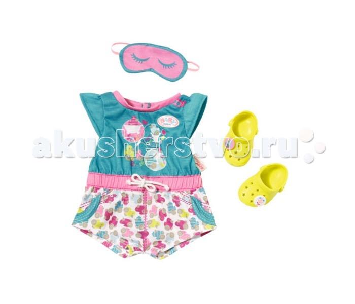 Куклы и одежда для кукол Zapf Creation Baby born Пижамка с обувью 822-470 одежда для сна