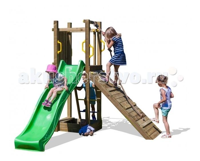 Paremo Игровой набор для детской площадки PS217-04Игровой набор для детской площадки PS217-04Paremo Игровой набор для детской площадки PS217-04 идеальное решение для небольшого сада.   етская игровая деревянная площадка на 5 мест: скалолазная доска, канат, песочница, горка, лестница  Размер площадки: 70 х 70 см Высота платформы: 125 см Длина скольжения: 2,2 м Максимальное количество играющих: 5 человек  Составляющие части: горка 2.2 м, крепления к земле, ручки, лестница с металлическими ступеньками, набор древесных и металлических соединений, набор монтажных инструментов, пошаговая инструкция по сборке с инструкцией по технике безопасности, альпинистская веревка, песочница с сиденьем  Вес: 108 кг Материалы: дерево Размеры (габариты): 190 x 290 x 210 см<br>