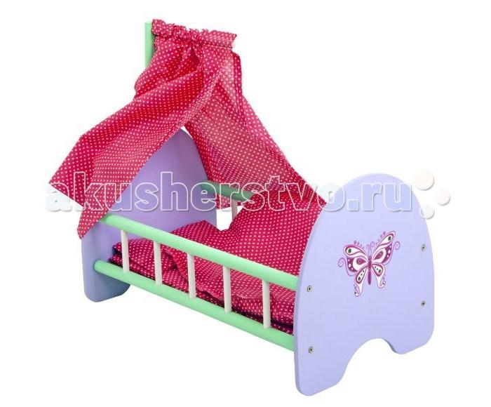 Кроватки для кукол Mary Poppins Бабочка деревянная с пологом брезентовый полог в воткинске на авито