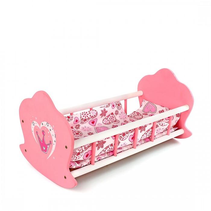 Купить Кроватки для кукол, Кроватка для куклы Mary Poppins Корона люлька деревянная