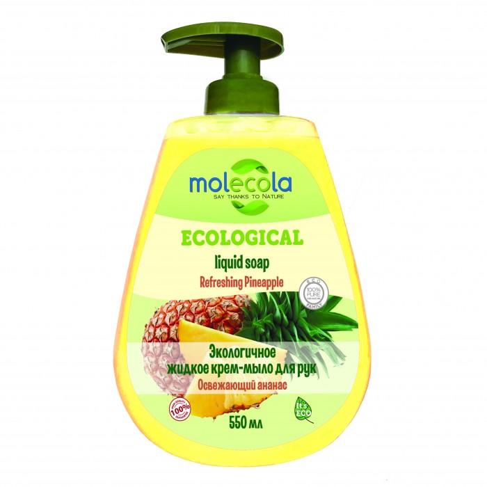 купить Косметика для мамы Molecola Экологичное жидкое мыло для рук Освежающий ананас 500 мл по цене 150 рублей