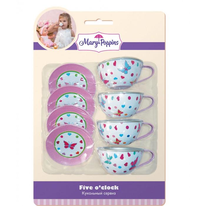 Ролевые игры Mary Poppins Набор посуды Бабочки 8 предметов украшение для стен и предметов интерьера сказочные бабочки