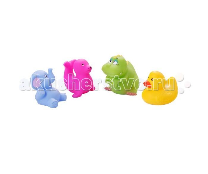 babyono контейнер для игры в ванной цвет голубой Игрушки для ванны BabyOno Игрушки для ванной Животные маленькие 4 шт.