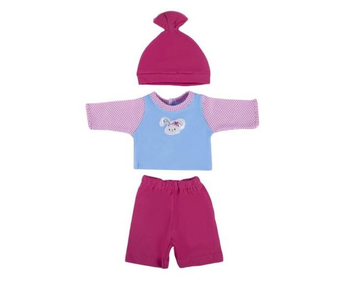 Куклы и одежда для кукол Mary Poppins Одежда для куклы Кофточка с брючками и шапочкой Зайка куклы и одежда для кукол mary poppins одежда для куклы боди с шапочкой