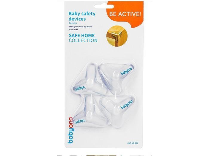 Блокирующие устройства BabyOno Защита на углы треугольная (4 шт.) защита на углы clippasafe 4 шт cl77ru прозрачный