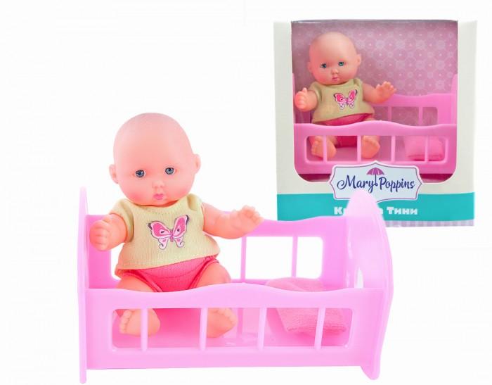 Куклы и одежда для кукол Mary Poppins Пупсик Крошка Тими в кроватке 12 см mary poppins одежда для куклы 42 см боди mary poppins в ассортименте