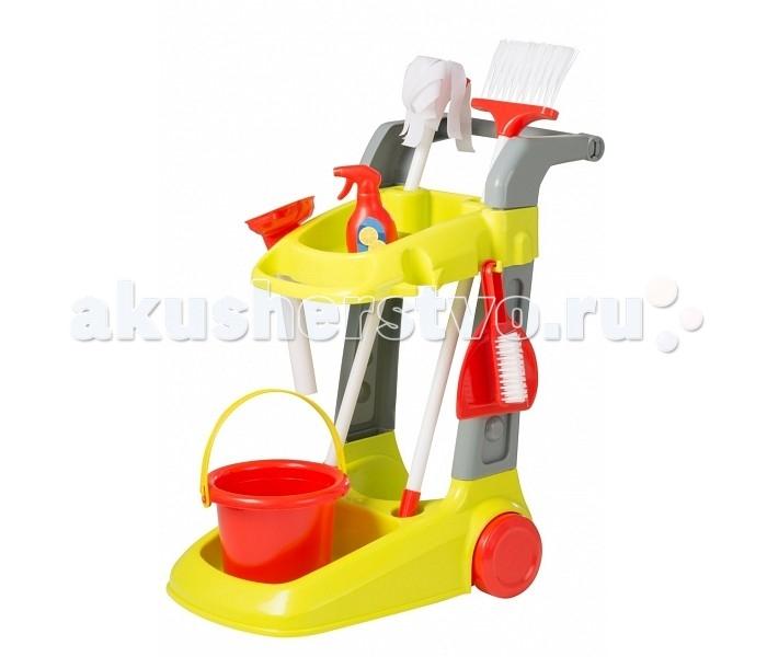 Ролевые игры HTI Набор для уборки с тележкой Smart ролевые игры hti набор доктора в чемоданчике smart