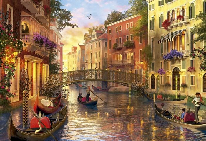 Пазлы Educa Пазл Закат в Венеции 1500 деталей пазлы educa пазл магазин сладостей 1500 деталей