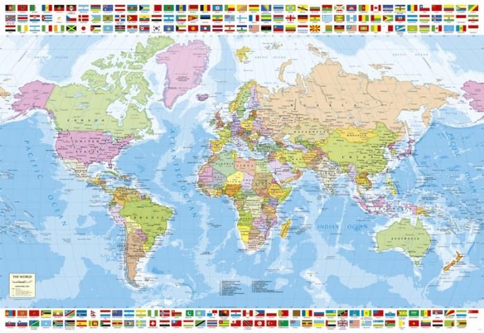 Пазлы Educa Пазл Политическая карта мира 1500 деталей пазлы educa пазл магазин сладостей 1500 деталей